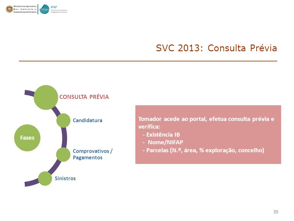 SVC 2013: Consulta Prévia CONSULTA PRÉVIA Fases