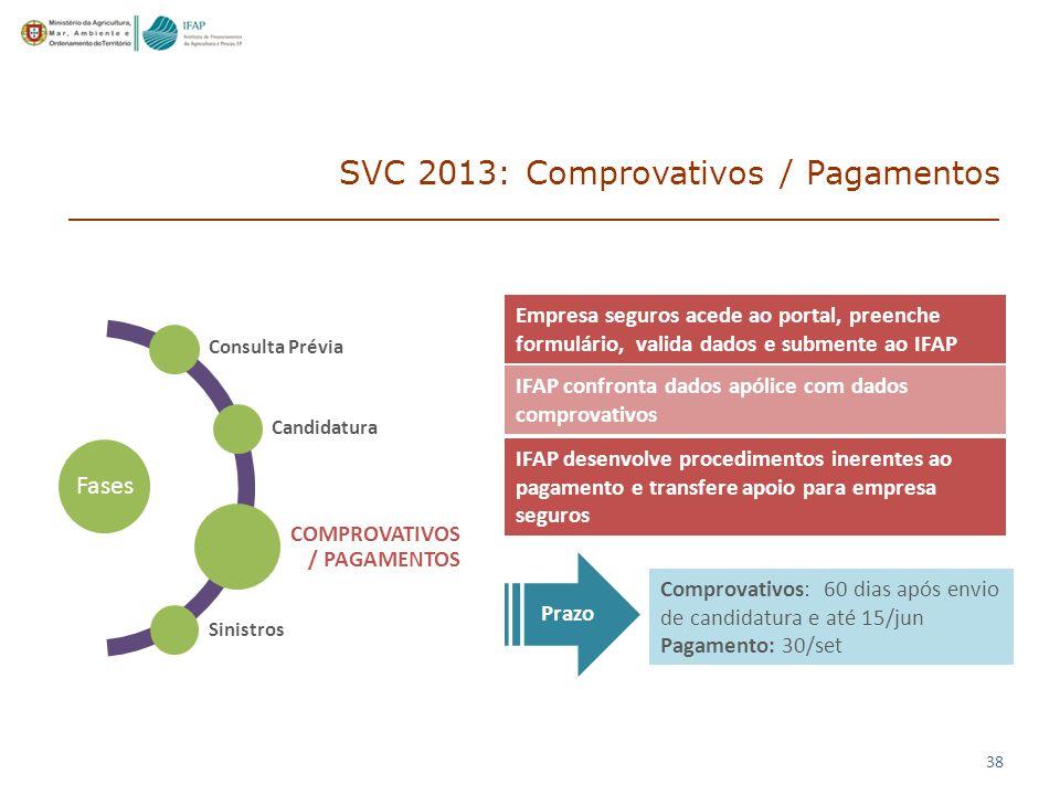 SVC 2013: Comprovativos / Pagamentos