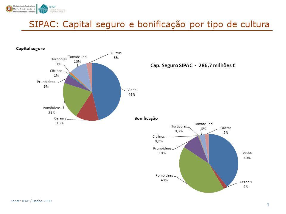 SIPAC: Capital seguro e bonificação por tipo de cultura
