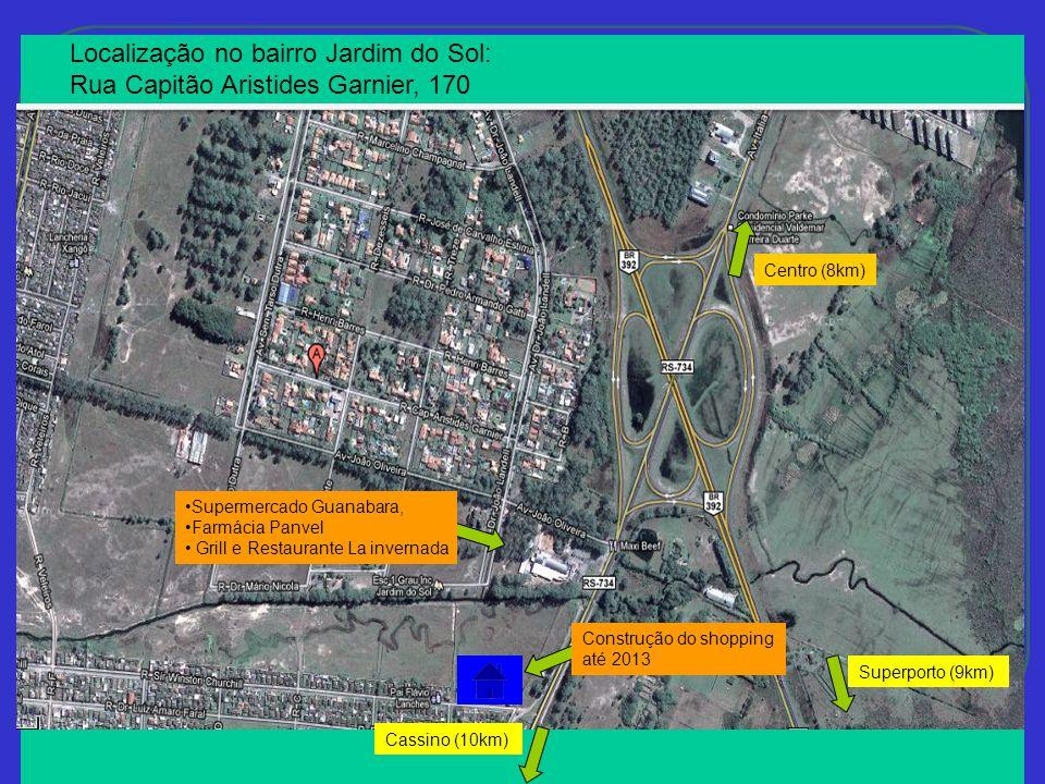 Localização no bairro Jardim do Sol:
