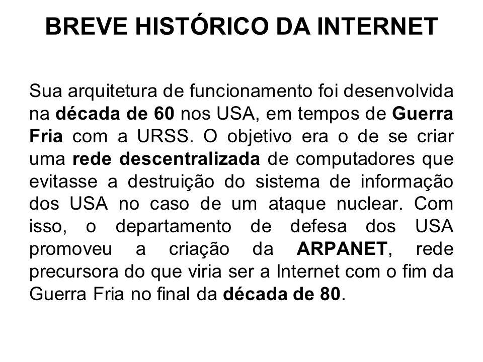 BREVE HISTÓRICO DA INTERNET
