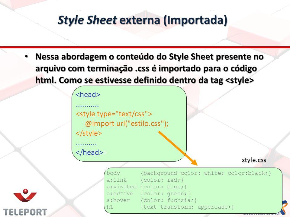 Style Sheet externa (Importada)