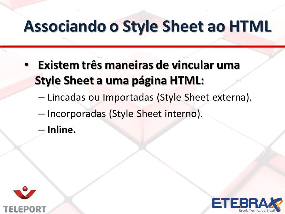 Associando o Style Sheet ao HTML