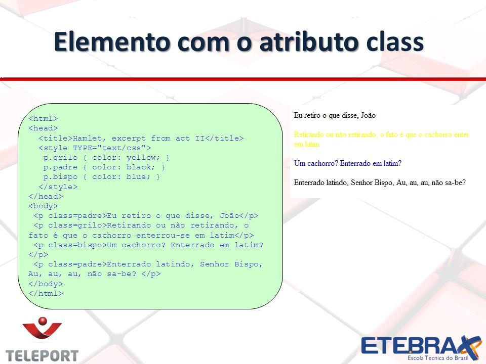 Elemento com o atributo class