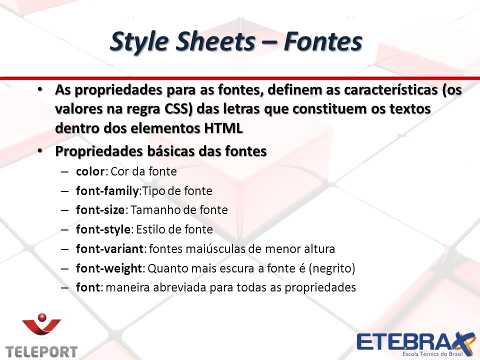 Style Sheets – Fontes