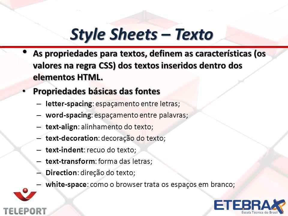 Style Sheets – Texto
