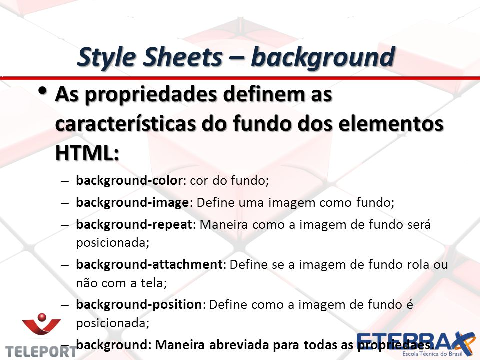 Style Sheets – background