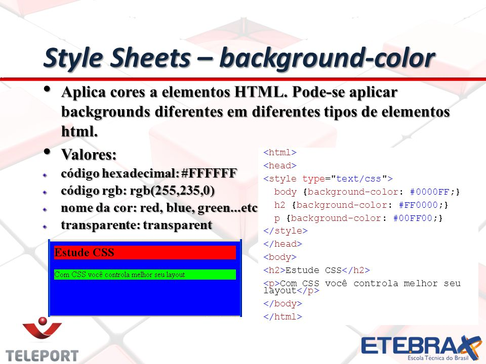Style Sheets – background-color