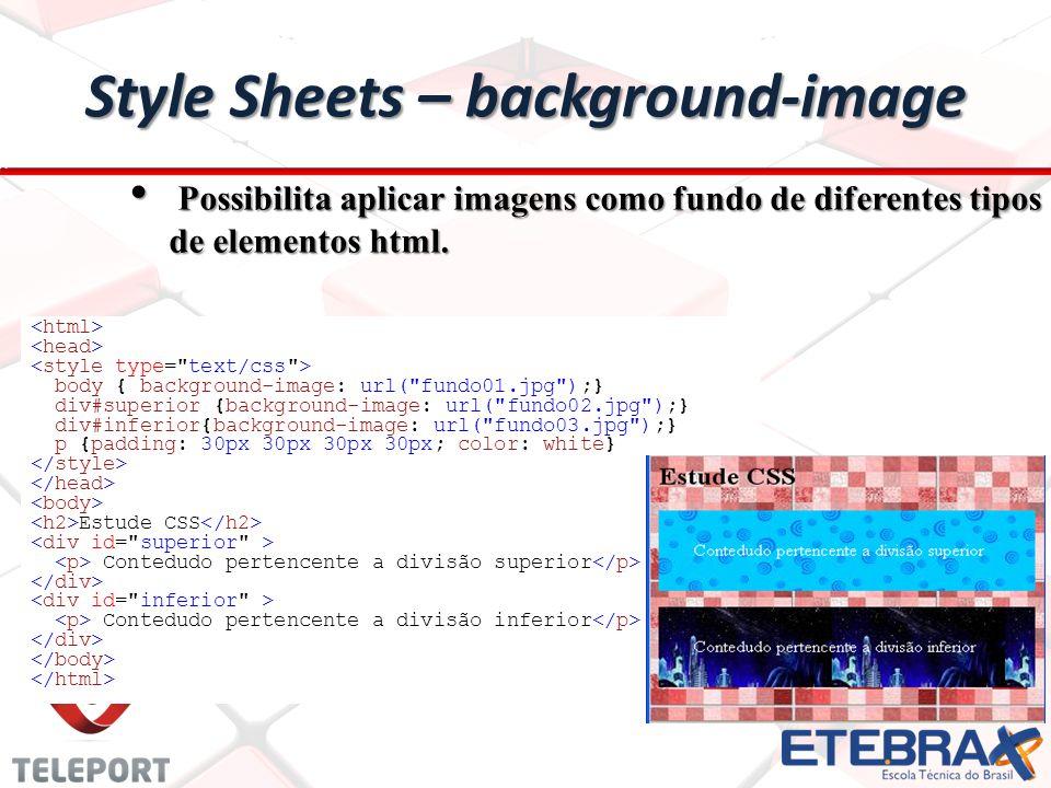 Style Sheets – background-image