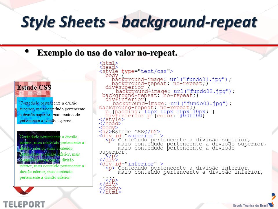 Style Sheets – background-repeat