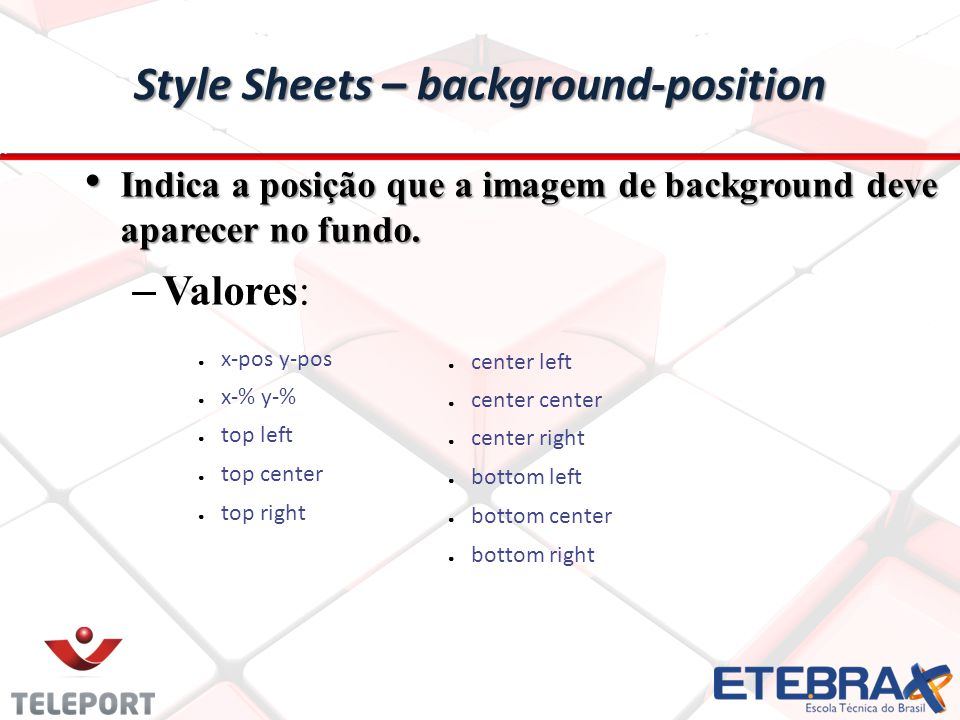 Style Sheets – background-position