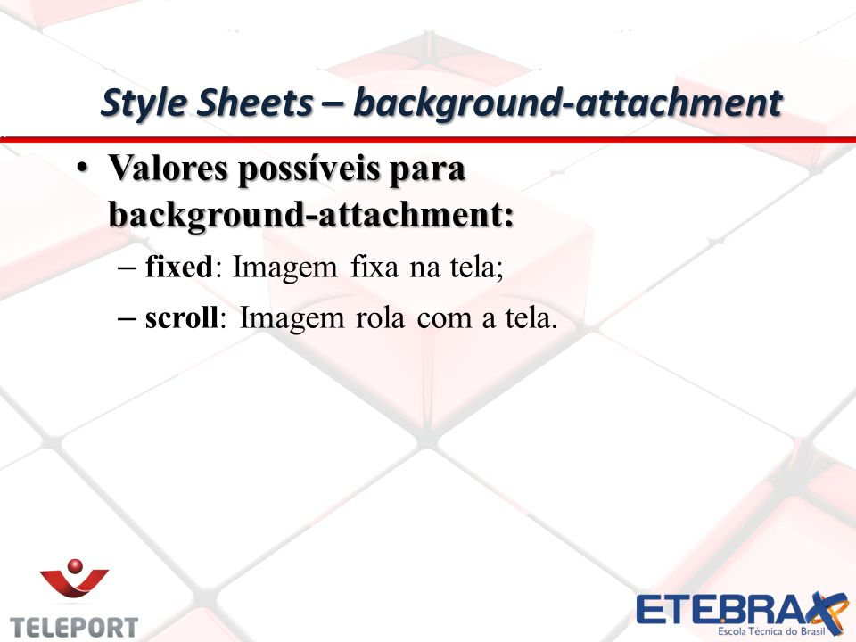 Style Sheets – background-attachment