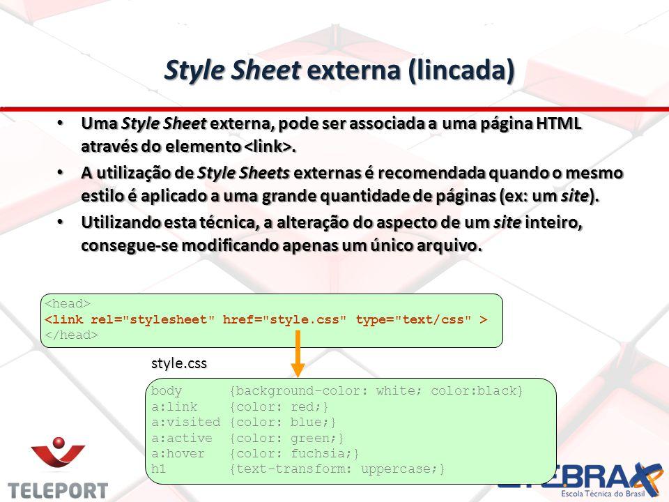 Style Sheet externa (lincada)