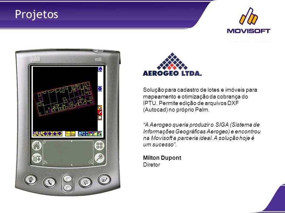 Solução para cadastro de lotes e imóveis para mapeamento e otimização da cobrança do IPTU. Permite edição de arquivos DXF (Autocad) no próprio Palm.