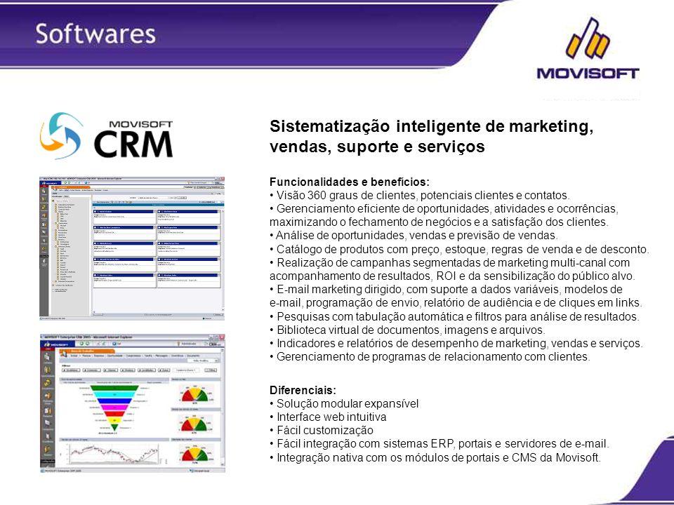 Sistematização inteligente de marketing, vendas, suporte e serviços