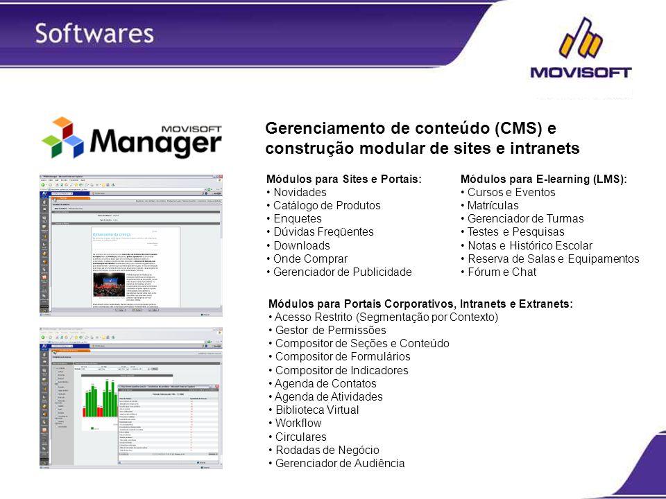 Gerenciamento de conteúdo (CMS) e construção modular de sites e intranets