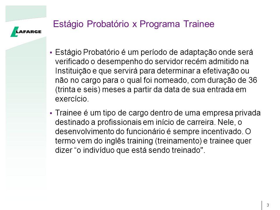 Estágio Probatório x Programa Trainee