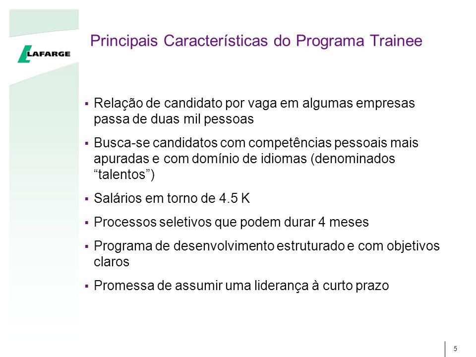 Principais Características do Programa Trainee