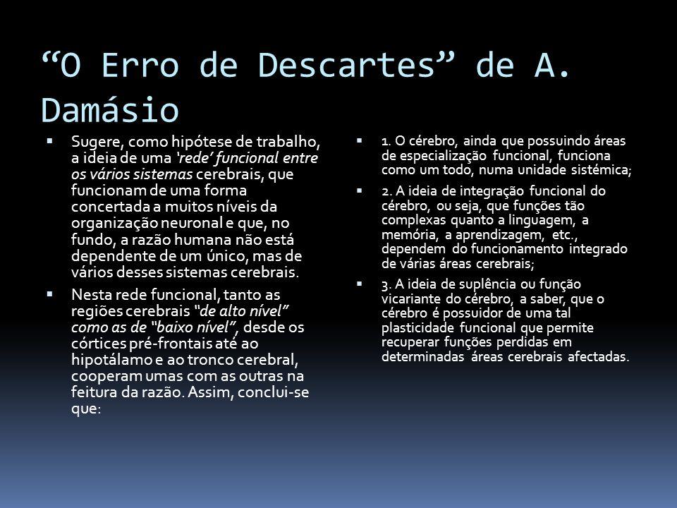 O Erro de Descartes de A. Damásio