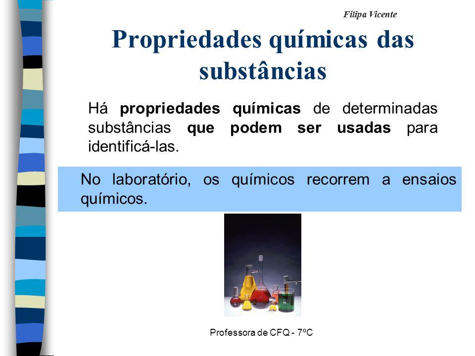 Propriedades químicas das substâncias