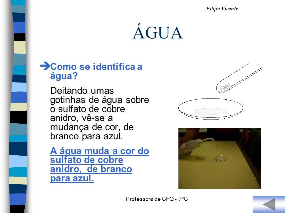 ÁGUA Como se identifica a água