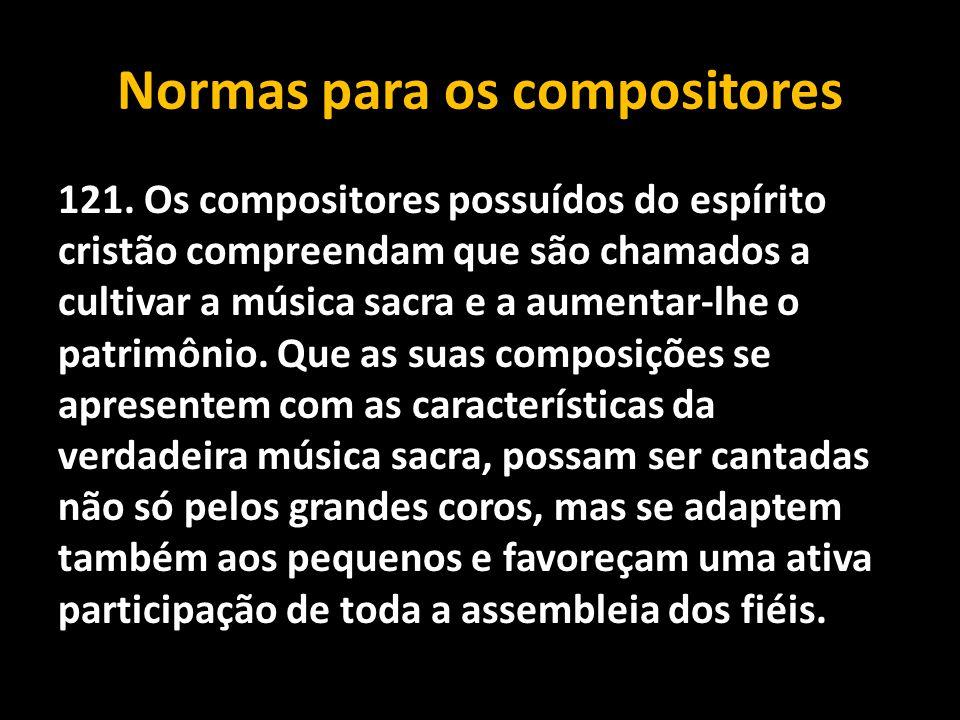 Normas para os compositores