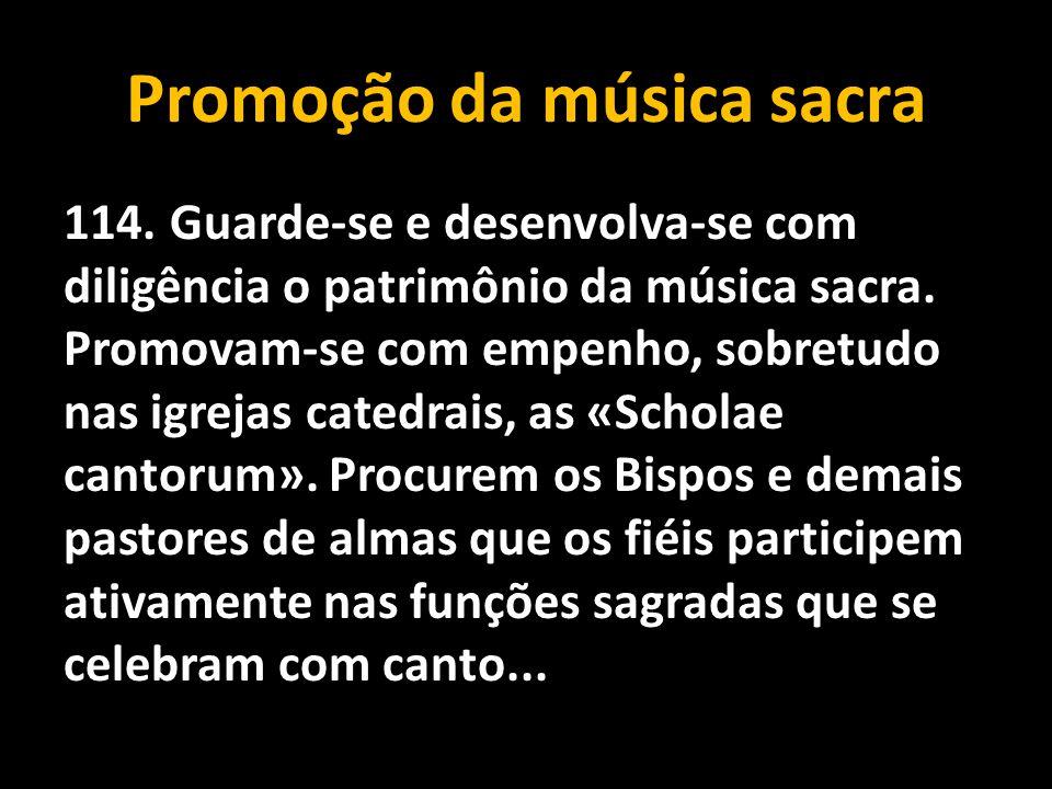 Promoção da música sacra