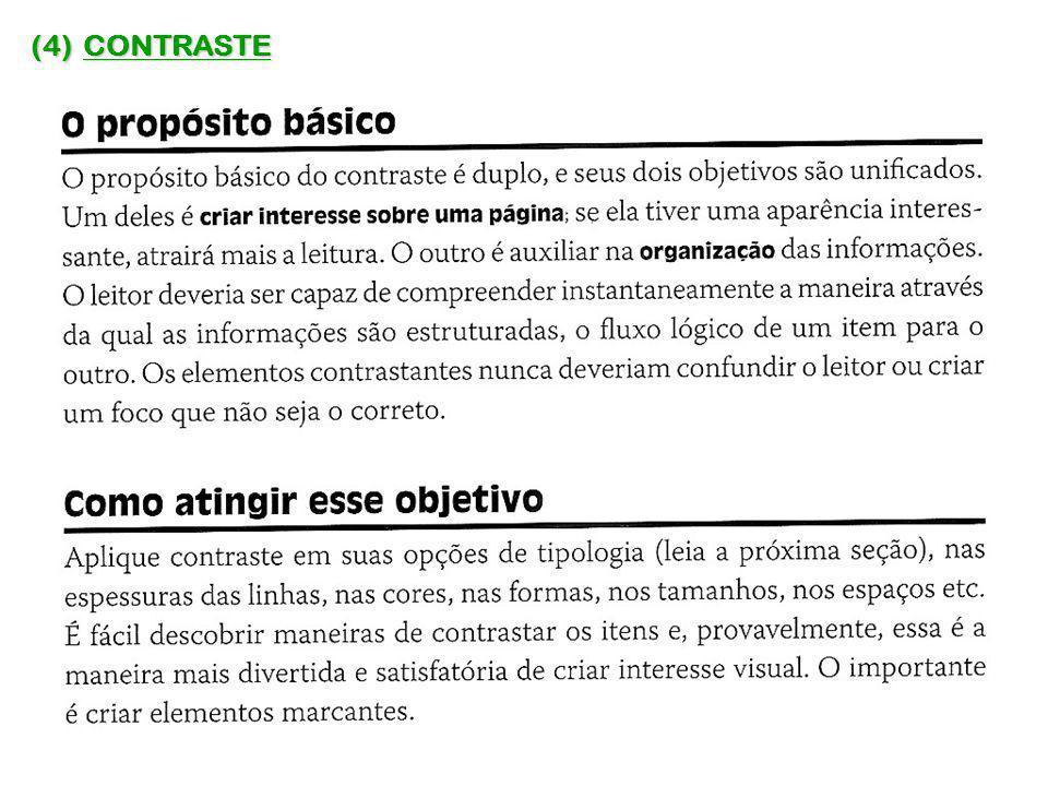 (4) CONTRASTE