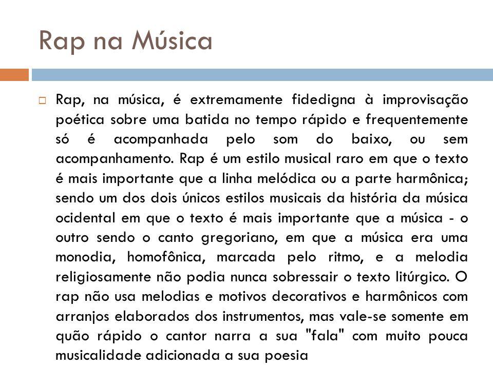 Rap na Música