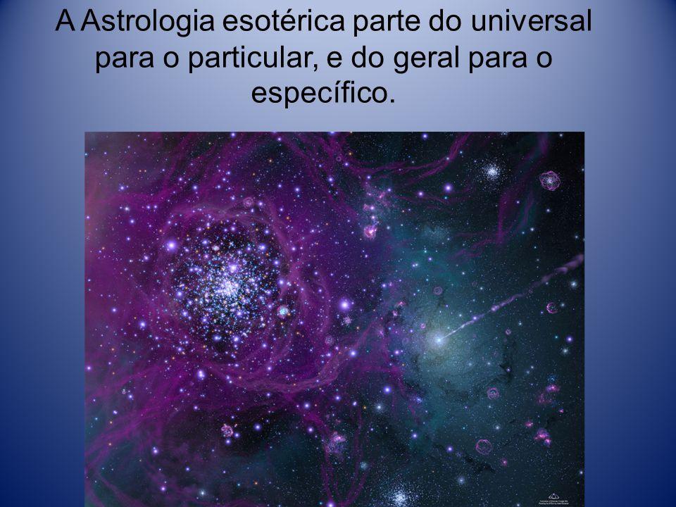 A Astrologia esotérica parte do universal para o particular, e do geral para o específico.
