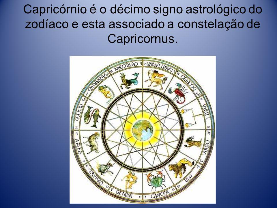 Capricórnio é o décimo signo astrológico do zodíaco e esta associado a constelação de Capricornus.