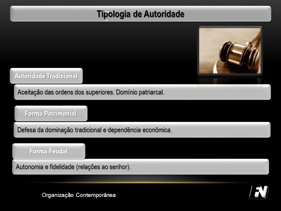 Tipologia de Autoridade Autoridade Tradicional