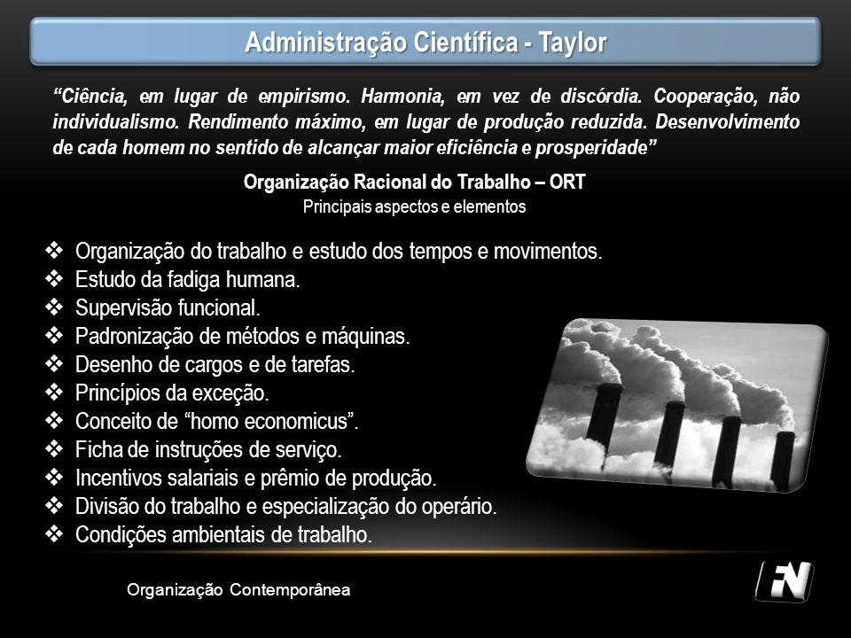 Administração Científica - Taylor