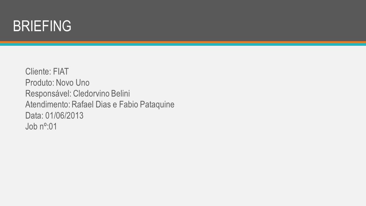 BRIEFING Cliente: FIAT Produto: Novo Uno