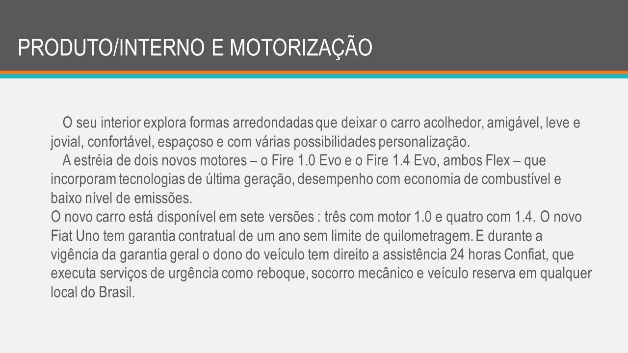 PRODUTO/INTERNO E MOTORIZAÇÃO