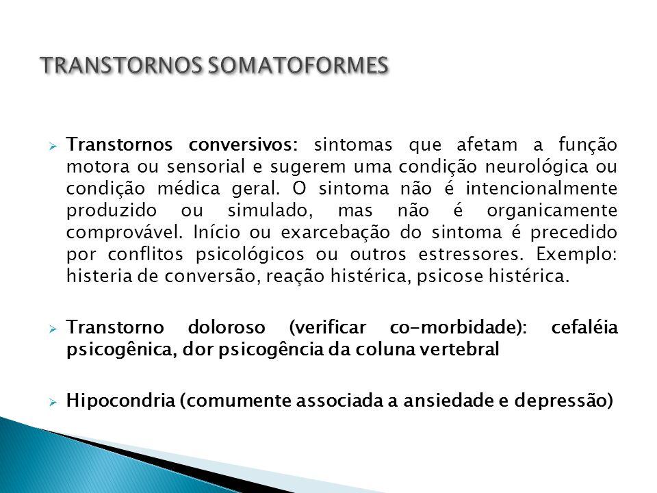 TRANSTORNOS SOMATOFORMES