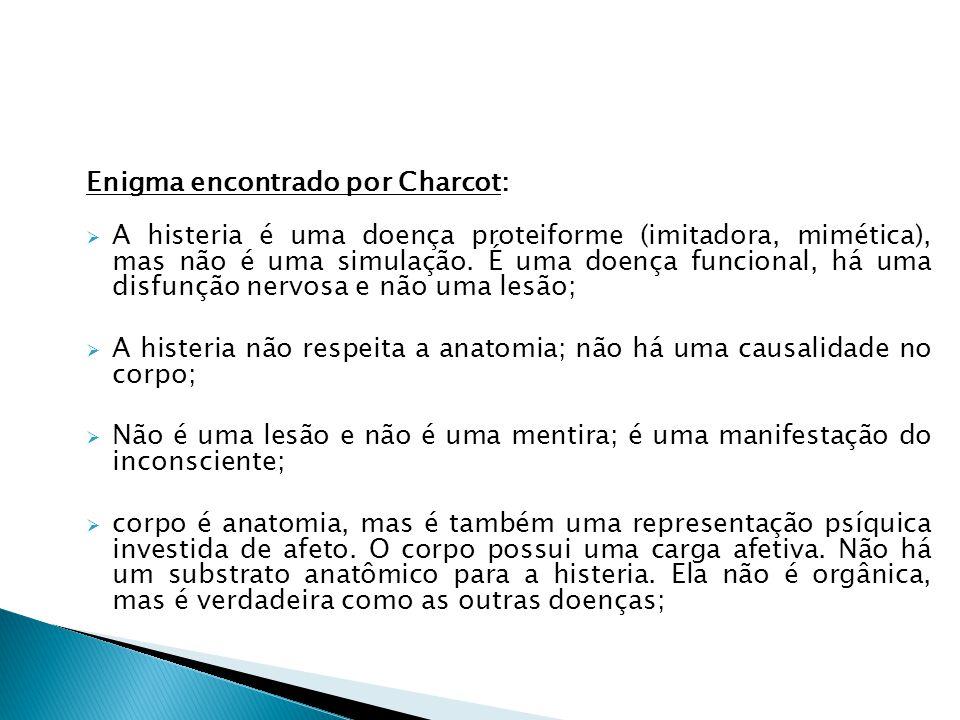 Enigma encontrado por Charcot: