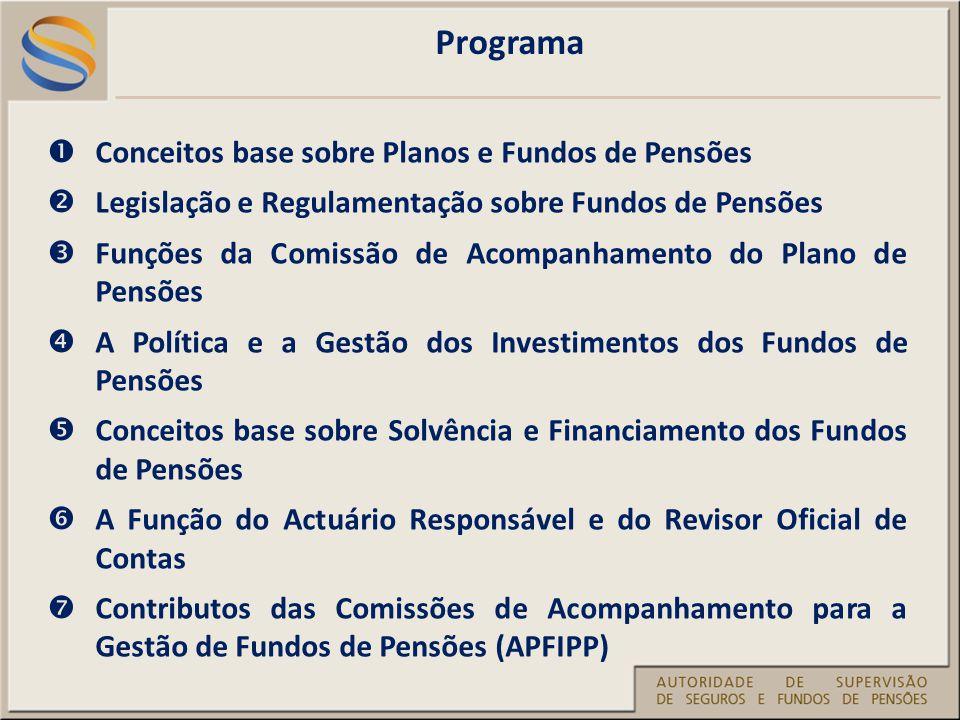 Programa Conceitos base sobre Planos e Fundos de Pensões