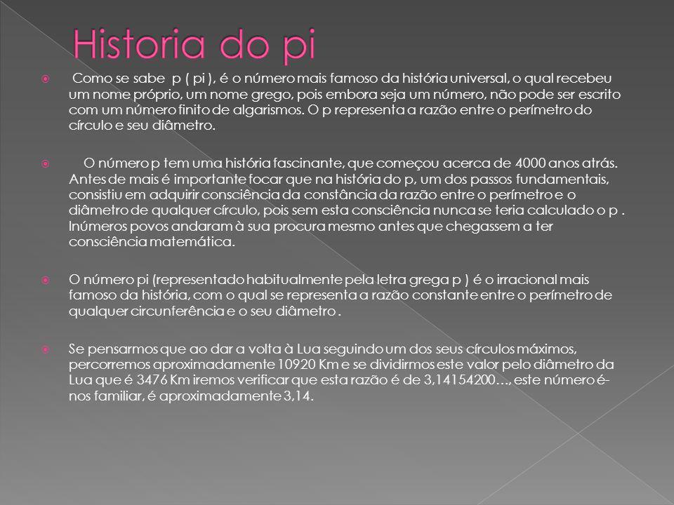 Historia do pi