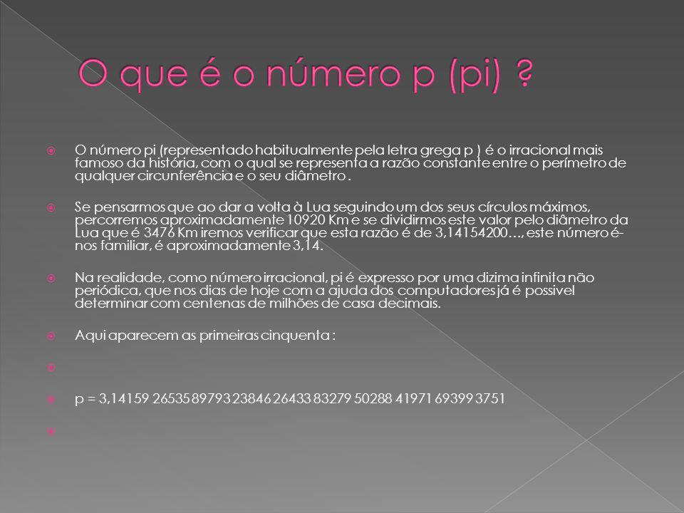 O que é o número p (pi)