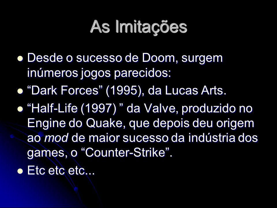 As Imitações Desde o sucesso de Doom, surgem inúmeros jogos parecidos:
