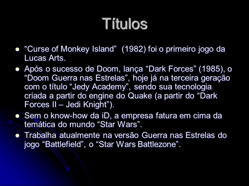 Títulos Curse of Monkey Island (1982) foi o primeiro jogo da Lucas Arts.