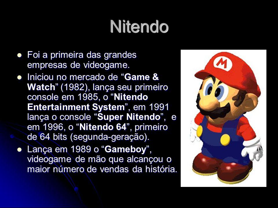 Nitendo Foi a primeira das grandes empresas de videogame.