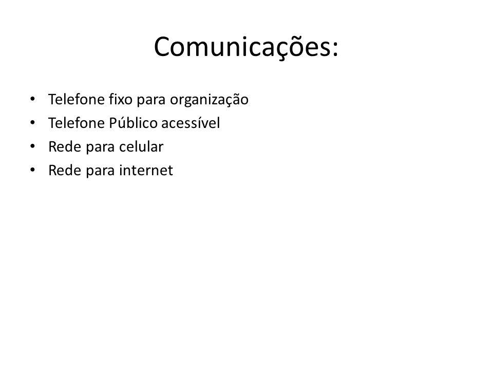 Comunicações: Telefone fixo para organização