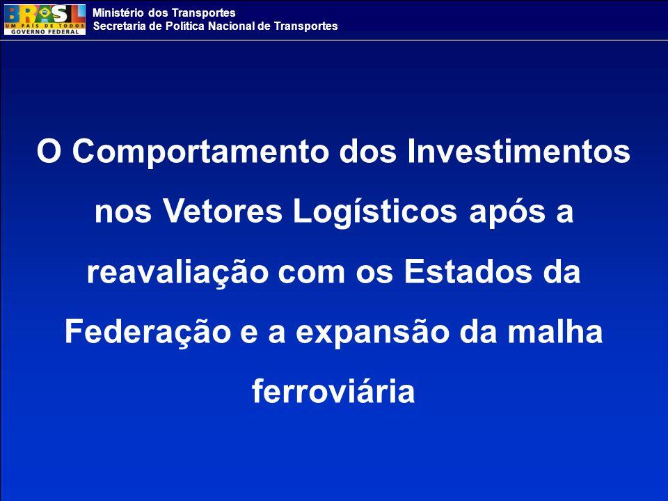 O Comportamento dos Investimentos nos Vetores Logísticos após a reavaliação com os Estados da Federação e a expansão da malha ferroviária