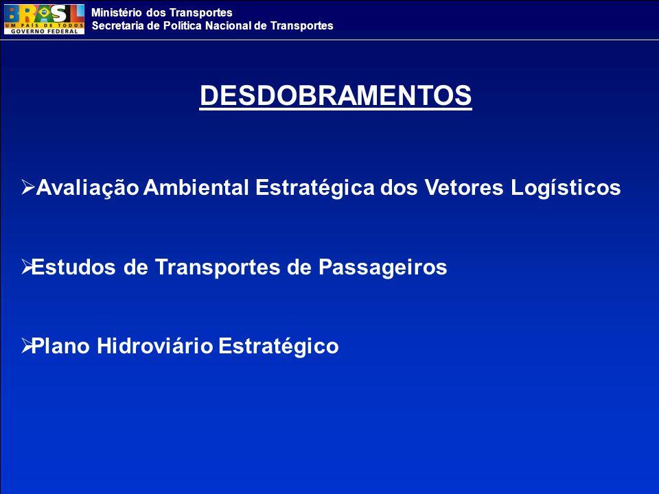 DESDOBRAMENTOS Avaliação Ambiental Estratégica dos Vetores Logísticos