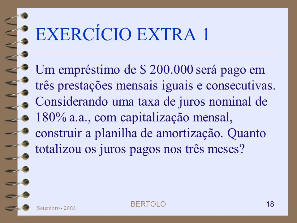 EXERCÍCIO EXTRA 1