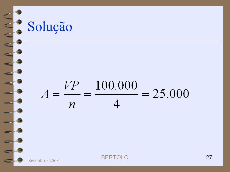 Solução Setembro - 2003