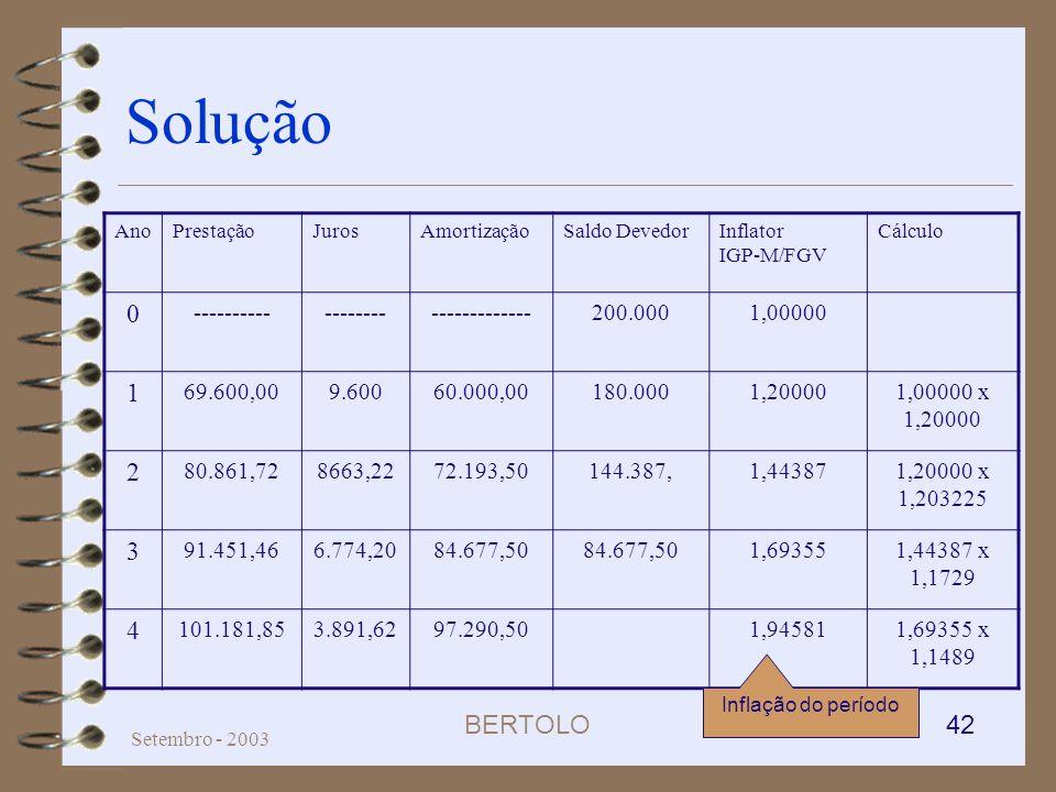 Solução 1 2 3 4 ---------- -------- ------------- 200.000 1,00000