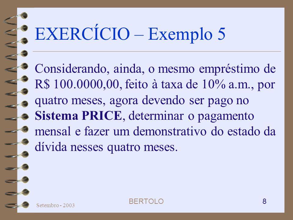 EXERCÍCIO – Exemplo 5